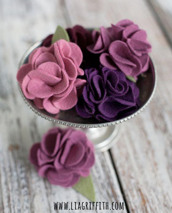 flores de fieltro caseras