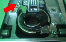 aflojar tornillos de la caja de la bobina