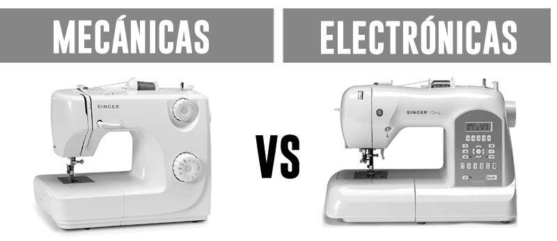 tipos de máquinas de coser mecánicas o electrónicas