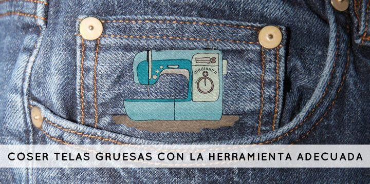 Maquina para coser vaqueros y mezclilla
