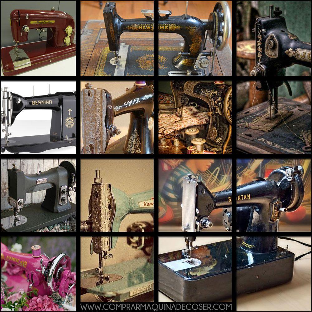 Historia de maquinas de coser en una imagen