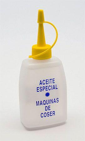 bote de aceite para el engrasado de maquinas de coser, marca Alfa